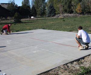Chalk line the perimeter